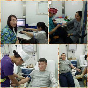 Коллективная сдача донорской крови